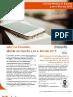 Ditrendia Informe Mobile en España y en El Mundo 2015