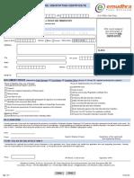 Emudhra Class2 Class3 Individual Digital Signature Form