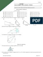 Relación Tema 7. Teorema de Pitágoras. Problemas