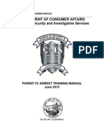 2015-06 Power to Arrest Training Manual