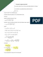 Formulario Ragionato Parabola