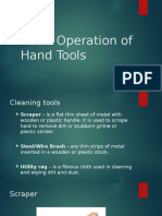 Basic Operation of Hand Tools