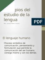 Principios Del Estudio de La Lengua