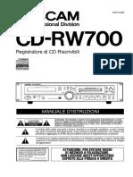 CD RW700 Manuale