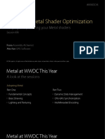 606 Advanced Metal Shader Optimization
