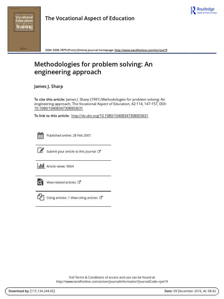 problem solving articles