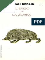 Berlin Isaiah - El Erizo y La Zorra