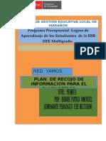Plan de Recojo de Información Para El Diagnóstico