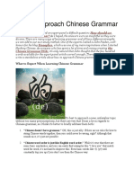 How to Approach Chinese Grammar