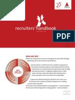 MICA Recruiter's Handbook 2016-17