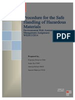 Safe Handling Hazardous Materials Procedures in Industrial