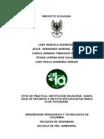 Proyecto Final de Ecologia 2016
