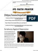 Scriptures Against Depression _ HopeFaithPrayer