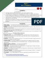 probability unit parent letter