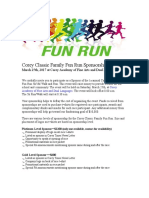 corey classic family fun run sponsorship letter