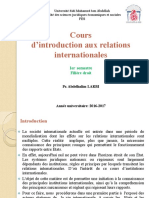 Cours Introduction Aux Relations Internationales