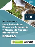 Guia Tecnica Para La Formulacion de Planes de Ordenacion y Manejo de Cuencas Hidrograficas POMCAS