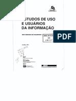 FIGUEIREDO, Nice Menezes de. Estudos de Usos e Usuários Da Informação, IBICT 1994