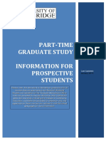Cambridge Part-Time Graduate Study
