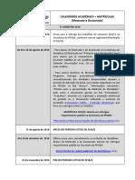 Calendario Academico Mestrado Doutorado 2016-2