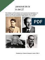 Antología de Los Poetas Del 27