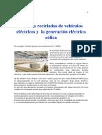 Baterías Recicladas de Vehículos Eléctricos y La Generación Eléctrica Eólica
