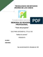 7 Instructivo Para Elaborar El Reporte Final de Residencia