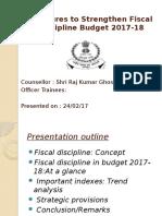 Measures to Strengthen Fiscal Discipline