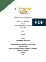 Metodologia de La Investigacion Trabajo Colaborativo 1 Parte A