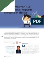 Prevision Social No Puede Entregarse en Efectivo