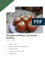 Tomates Rellenos Con Queso Fontina