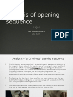 Analysis of Opening Sequence