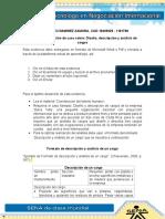 Solución de Caso Diseño, Descripción y Análisis de Cargos Jose