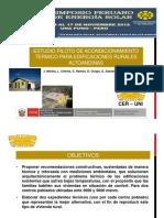 Estudio Piloto de Acondicionamiento Térmico Para Edificaciones Rurales Altoandinas