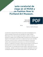 Contraste Curatorial de Balenciaga en El MUSA y Native Fashion Now in Portland Art Museum