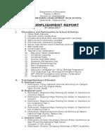 Accomplishment Report 2016-2017