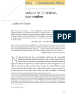 """Michael W. Doyle (2009) """"a Few Words on Mill, Walzer, And Nonintervention"""""""