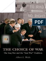 Albert Loren Weeks (2010) the Choice of War_ the Iraq War and the Just War Tradition-ABC-CLIO