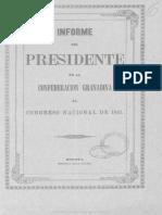 1861 Presidente - Informe Al Congreso