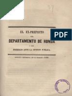 1862 Calixto Piedrahita - Respuesta a sus críticos, Honda