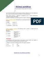 1 - Dízimas periódicas