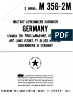 XWD ASFM M356·2M - Military Government Handbook Germany