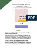 IFE Democracia y Educación