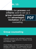 Advantages and Limitations of Group Counselling