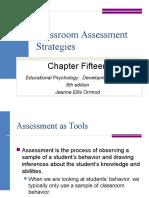 Classroom Assessment Strategies