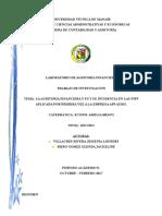 Adopcion de NIIF Primera Vez Proyecto de Auditoria Financiera