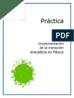 Implementación de la transición energética en Mexico