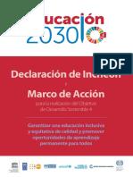 Educación 2030 declaración de INCHEON