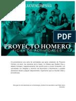 Proyecto Homero. Actividades