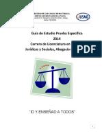 Guia de Estudio Prueba Especifica Derecho